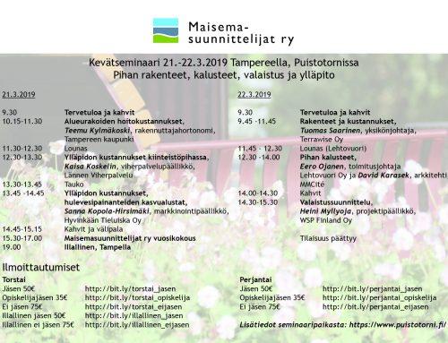 Kevätseminaari ja vuosikokous 2019